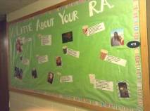 """A Latte About Your RA"" board"