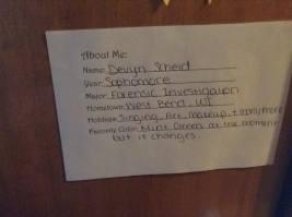 """""""About Me"""" Door Sign"""