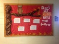 """Don't Let Stress Ruffle Your Feathers"" Board"